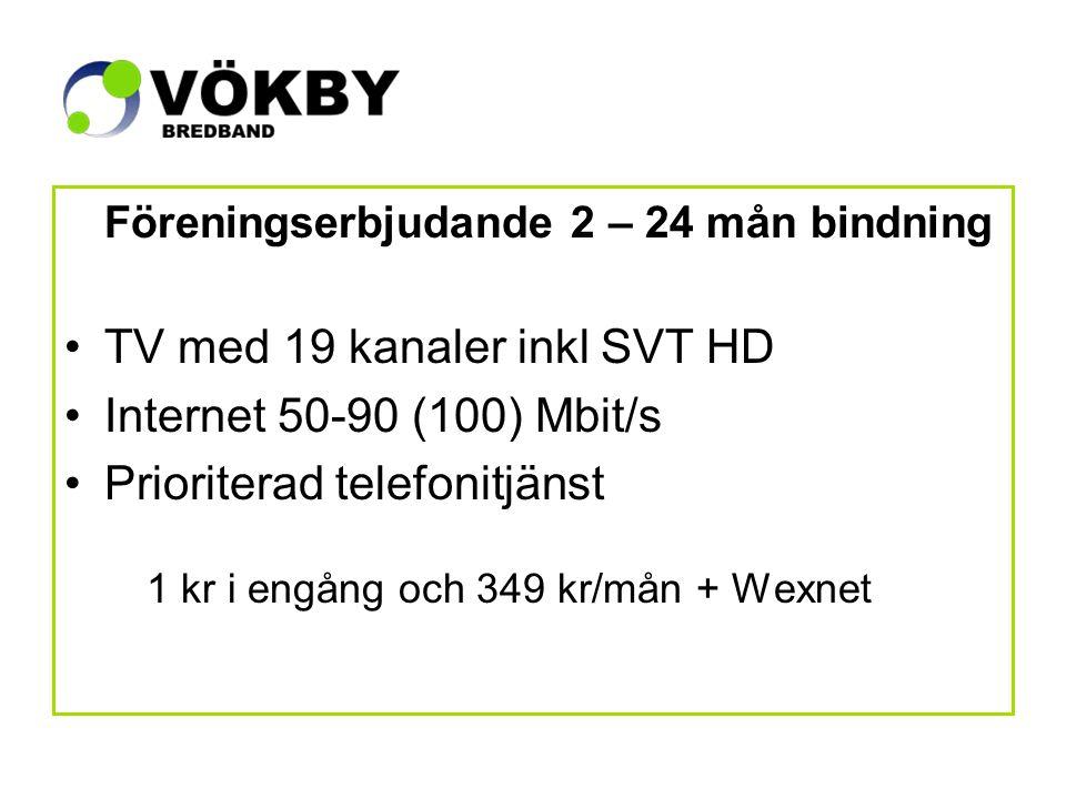 Jämförelse nr 1 Boxer-TV med 22 kanaler exkl SVT HD Telia Internet 12-24/1 Mbit/s Telia Telefonitjänst via telejacket 683 kr/mån