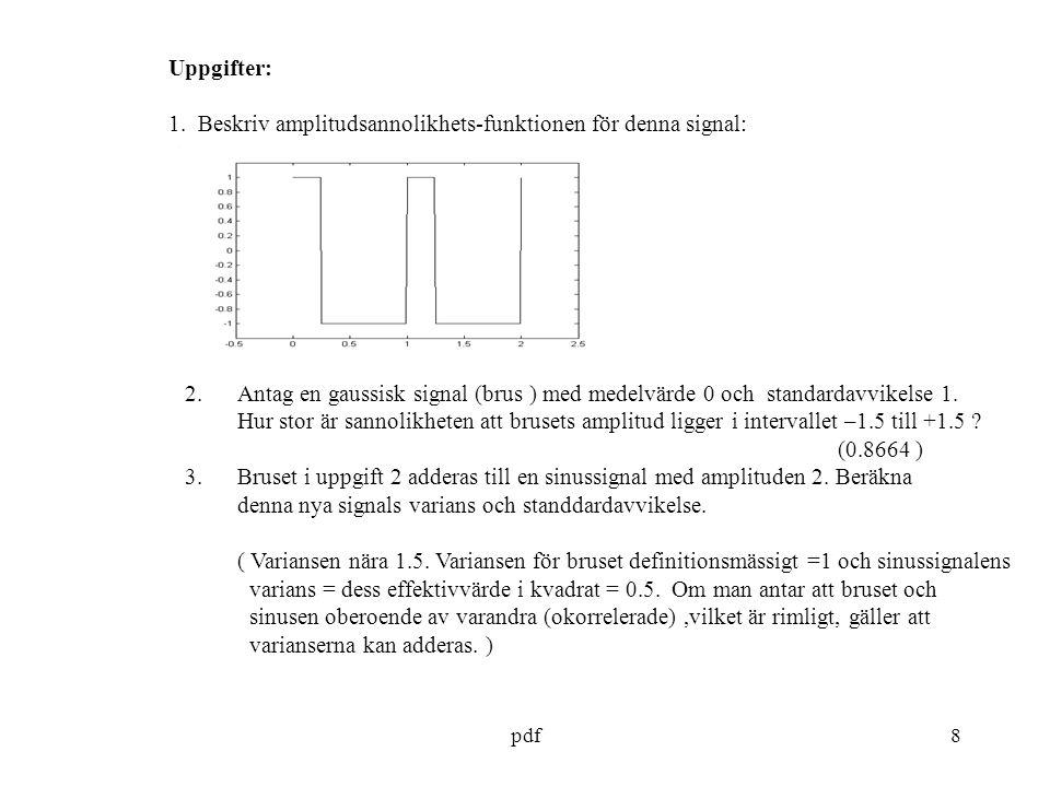 pdf8 Uppgifter: 1.
