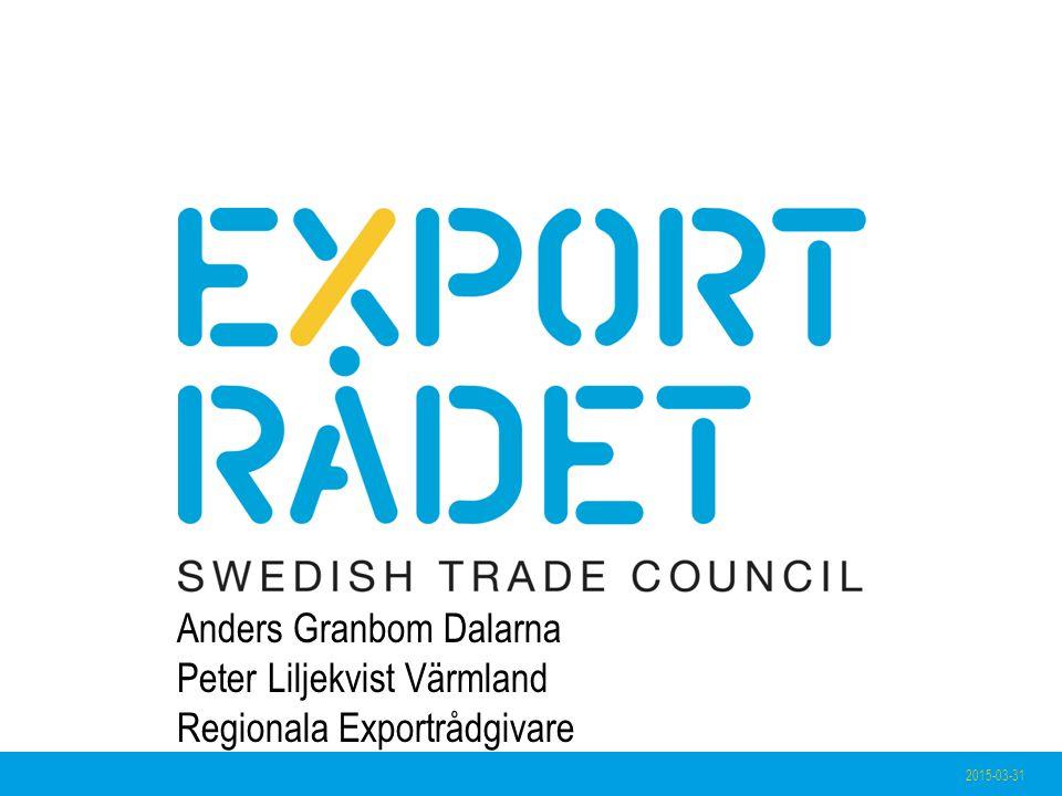 2015-03-31 Anders Granbom Dalarna Peter Liljekvist Värmland Regionala Exportrådgivare