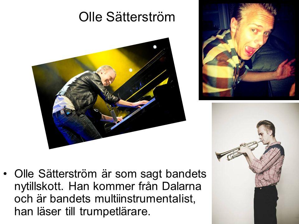 Olle Sätterström Olle Sätterström är som sagt bandets nytillskott. Han kommer från Dalarna och är bandets multiinstrumentalist, han läser till trumpet