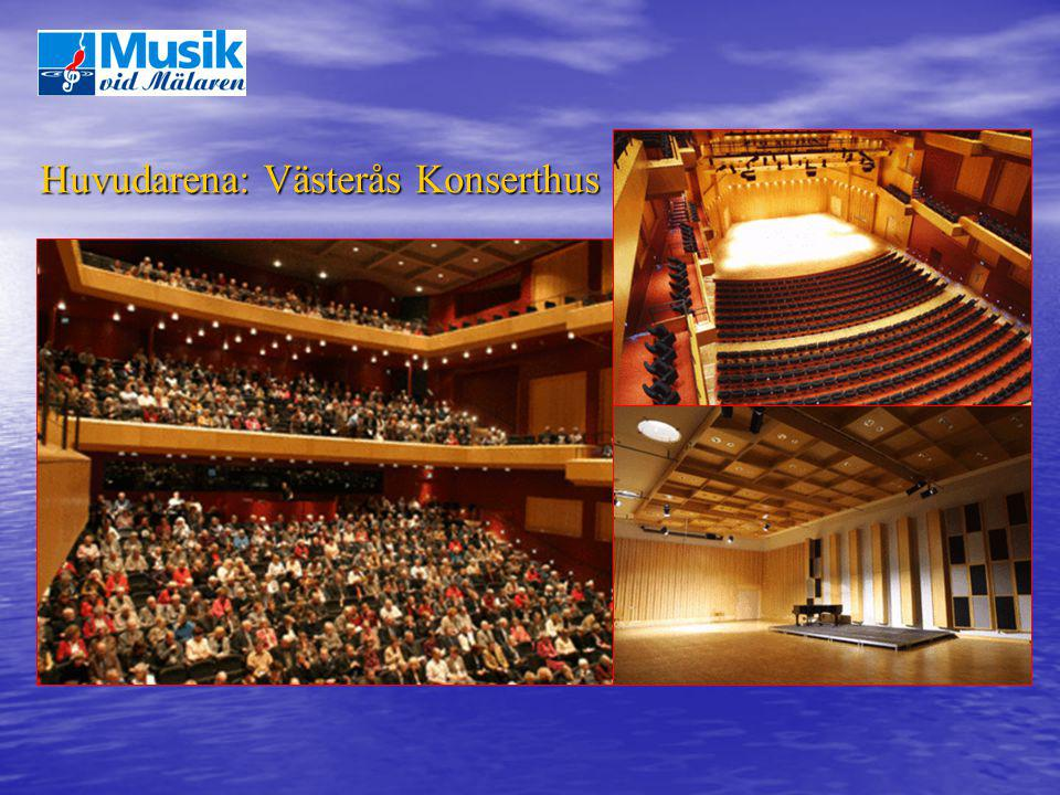 Huvudarena: Västerås Konserthus