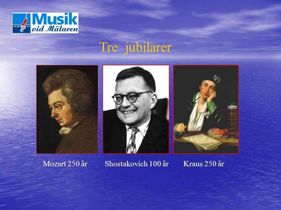 Tre jubilarer Mozart 250 år Shostakovich 100 år Kraus 250 år
