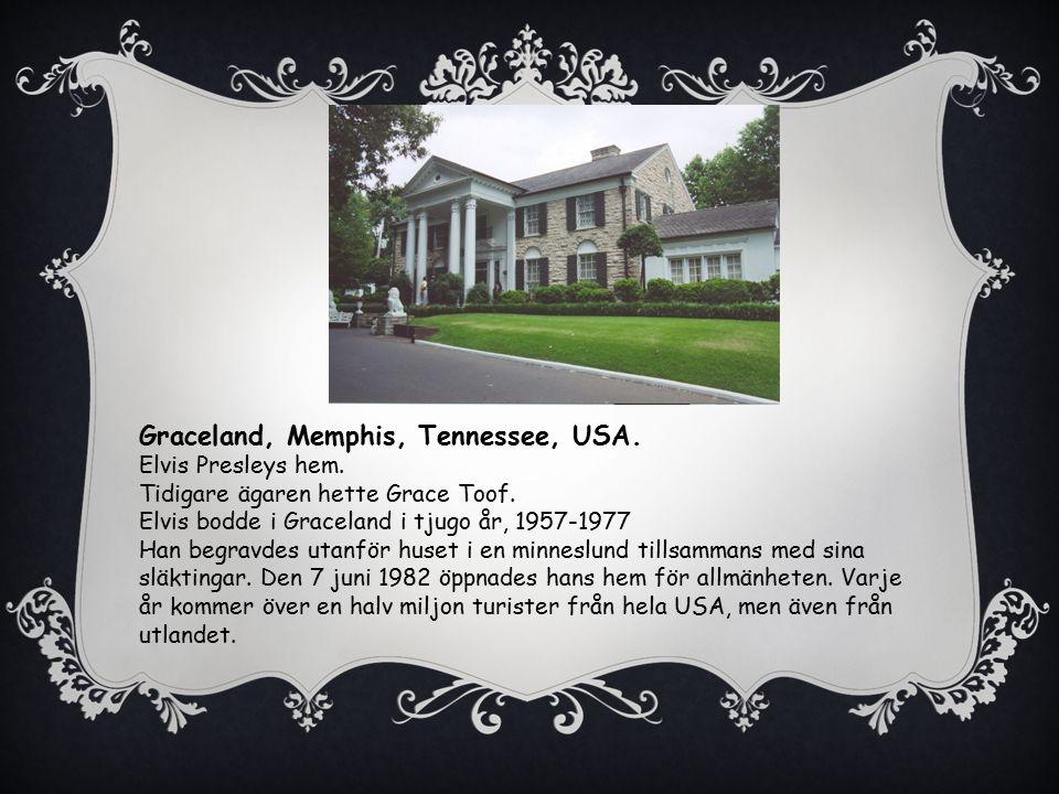 Graceland, Memphis, Tennessee, USA.Elvis Presleys hem.