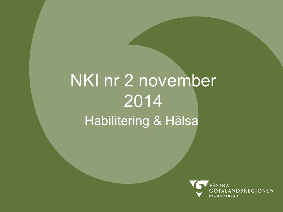 NKI nr 2 november 2014 Habilitering & Hälsa