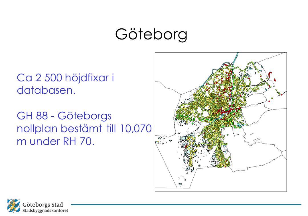 Göteborg Ca 2 500 höjdfixar i databasen.