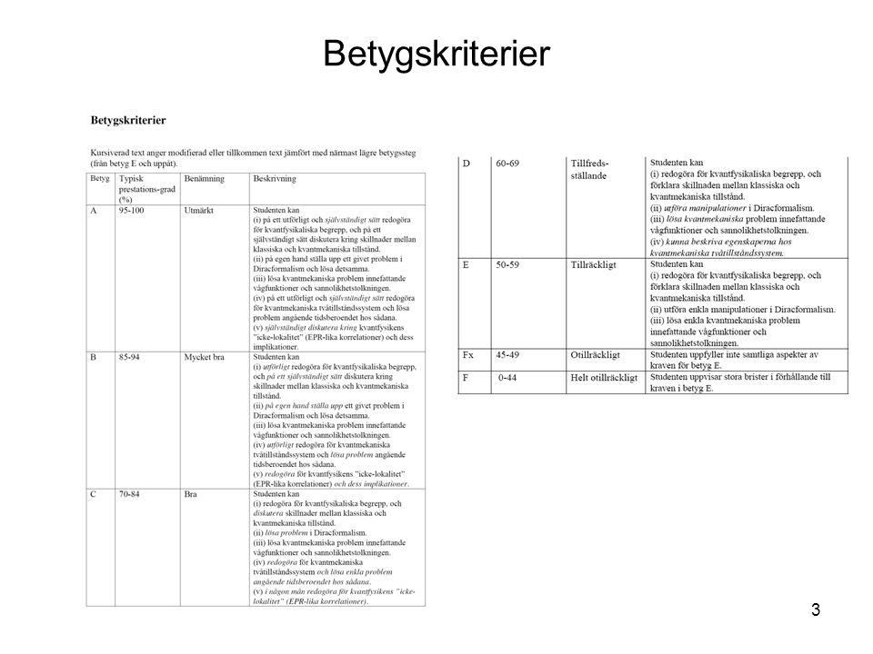 FK3002 Kvantfysikens grunder4 http://www.physto.se/~milstead/teaching/2010/kvant2010.html Kurshemsida Nyheter Gamla tentor+lösningar Kursinnehåll