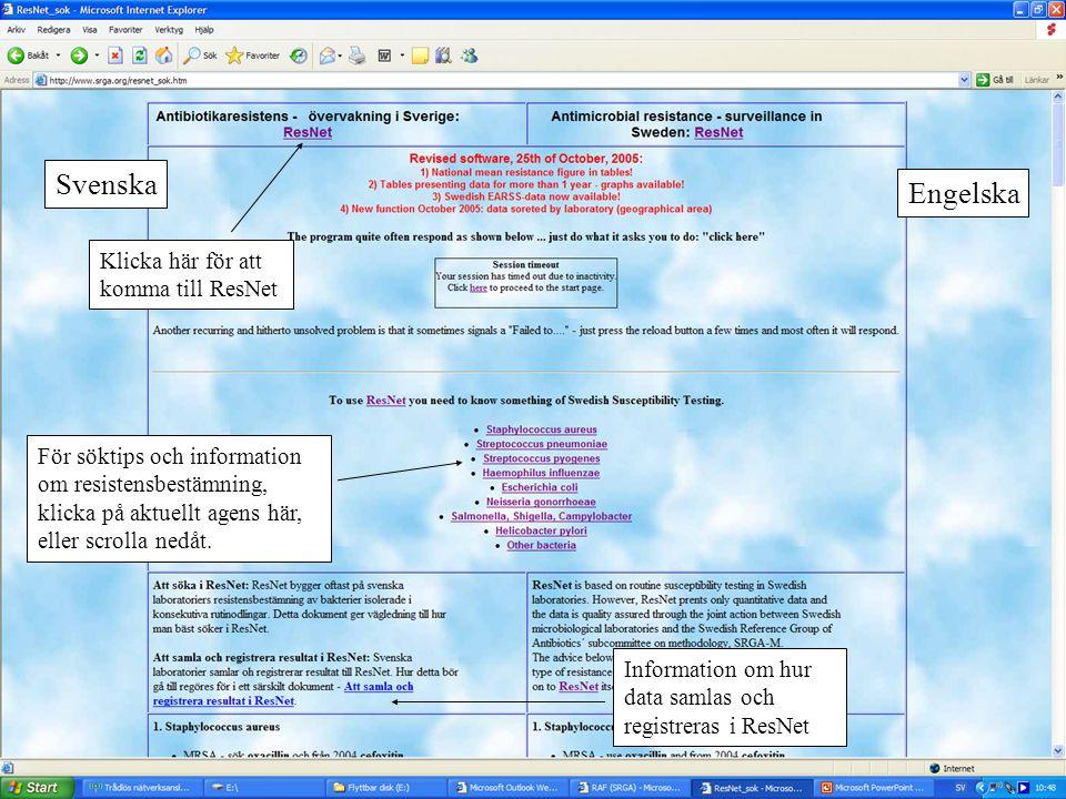 Längre ned på samma sida finns instruktion för sökning i ResNet