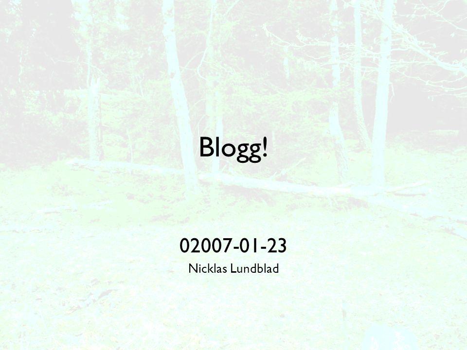Att bevaka bloggosfären