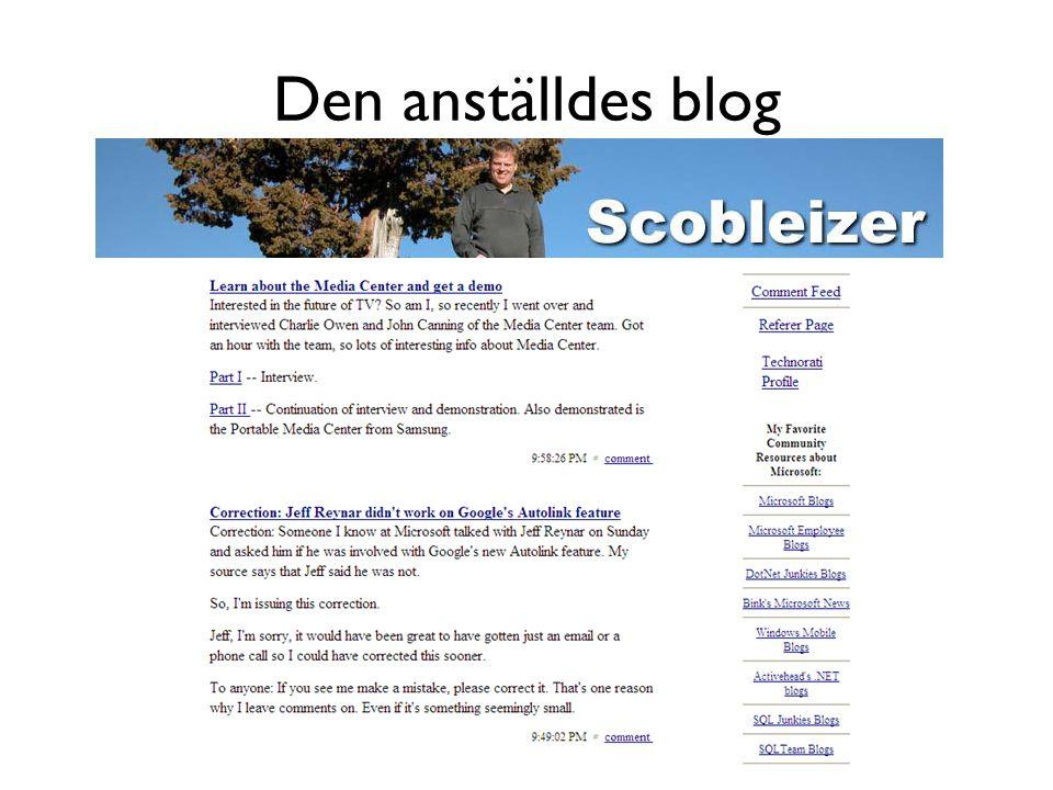 Den anställdes blog