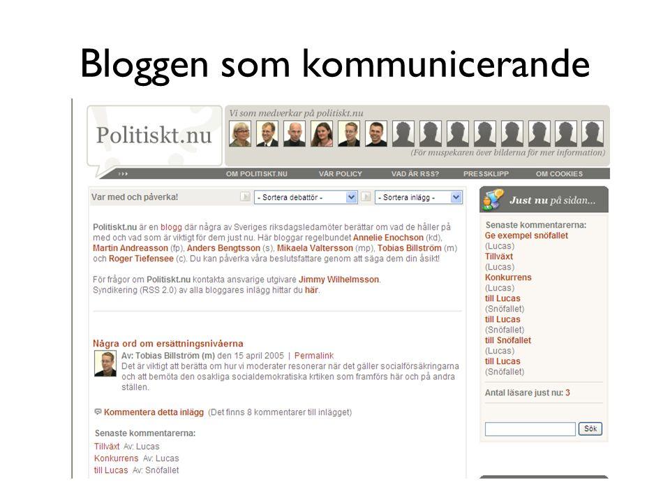 Bloggen som kommunicerande