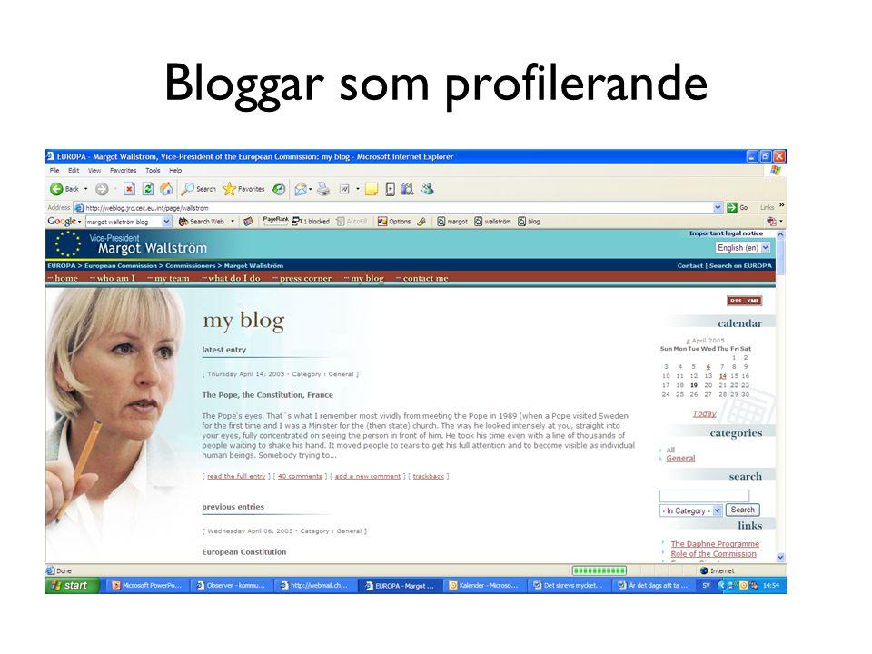 Bloggar som profilerande
