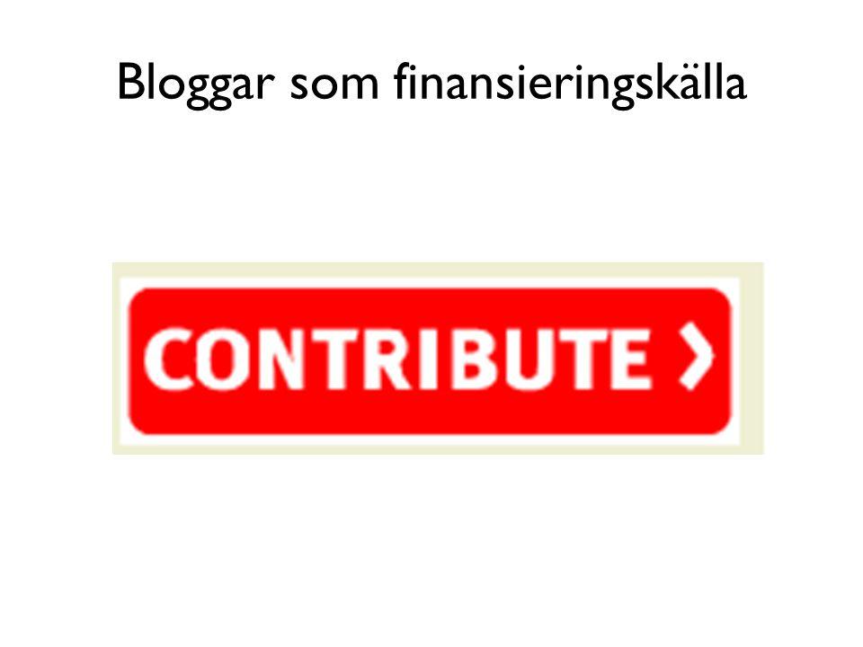 Bloggar som finansieringskälla