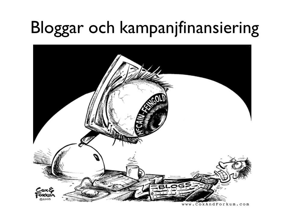 Bloggar och kampanjfinansiering