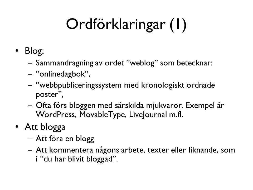 Bloggarkluster (Kumar 2004)