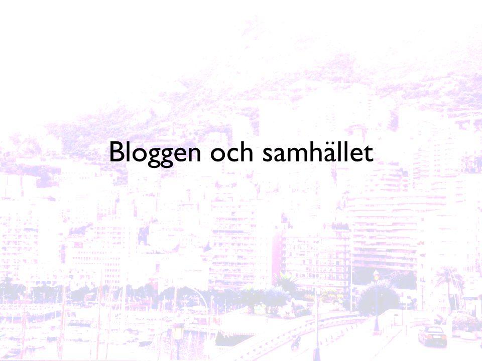 Bloggen och samhället