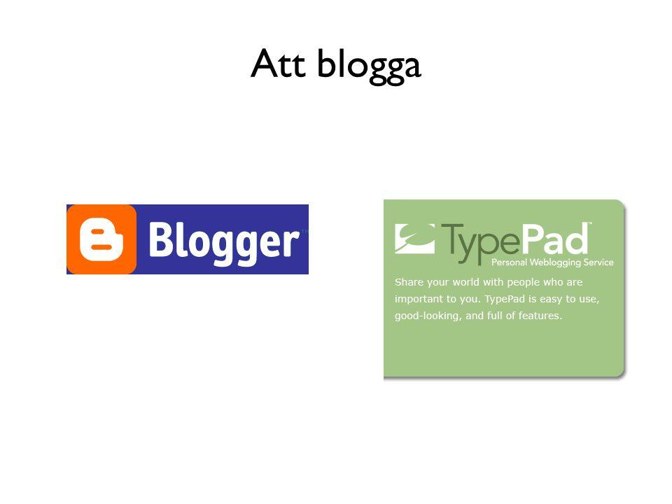 Att blogga