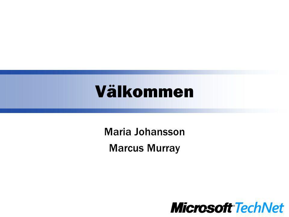 Välkommen Maria Johansson Marcus Murray