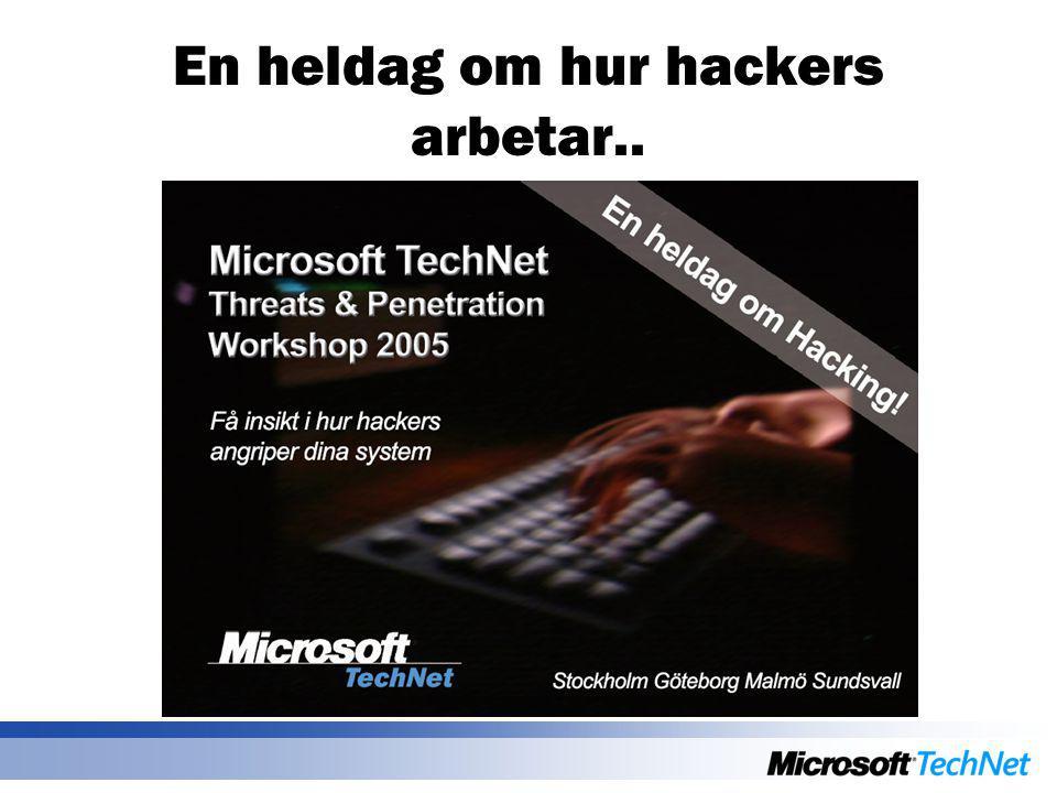 En heldag om hur hackers arbetar..