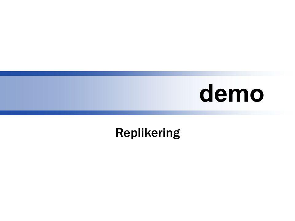 demo Replikering