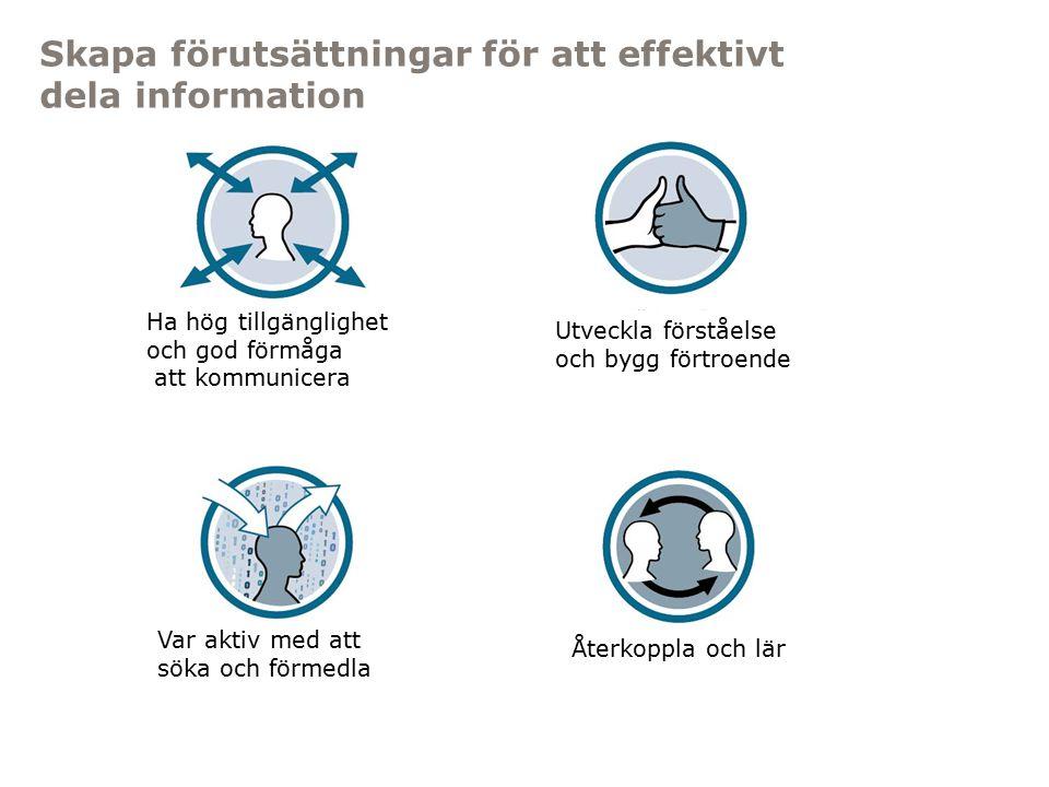 Myndigheten för samhällsskydd och beredskap Skapa förutsättningar för att effektivt dela information Ha hög tillgänglighet och god förmåga att kommuni