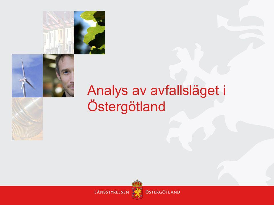 Analys av avfallsläget i Östergötland