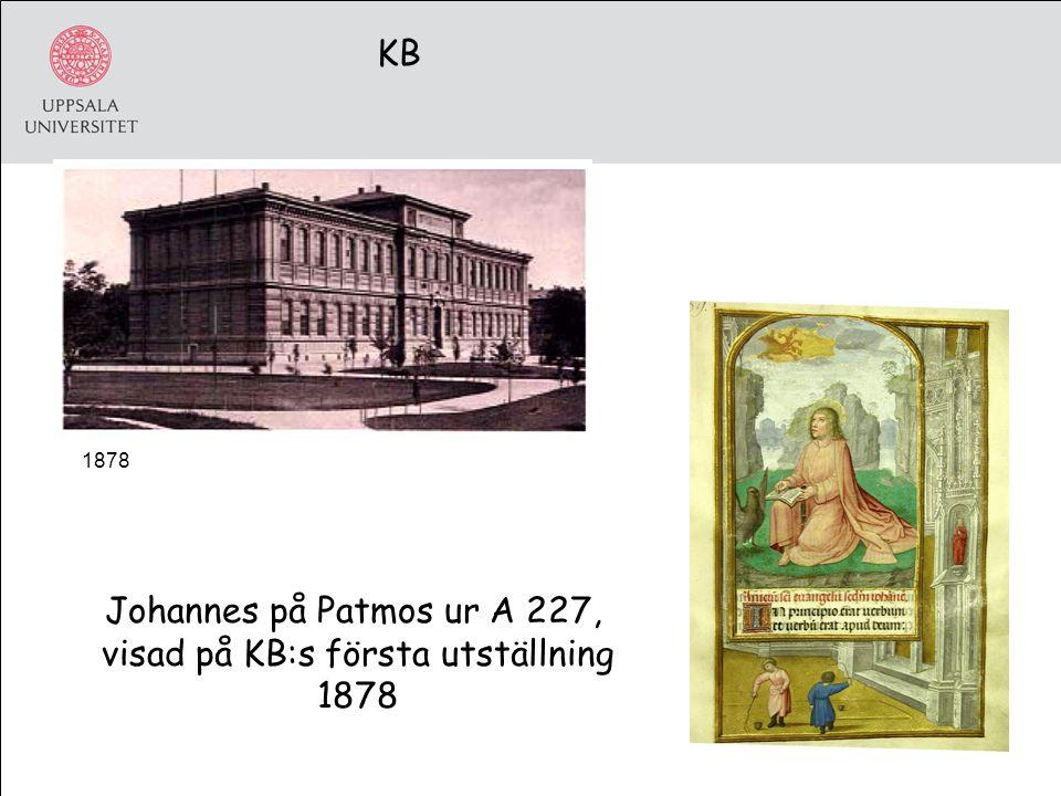 1878 KB Johannes på Patmos ur A 227, visad på KB:s första utställning 1878