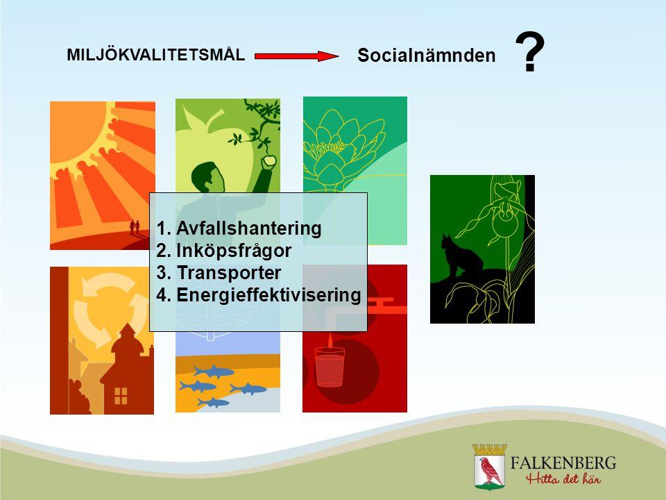 MILJÖKVALITETSMÅL . Socialnämnden 1. Avfallshantering 2.