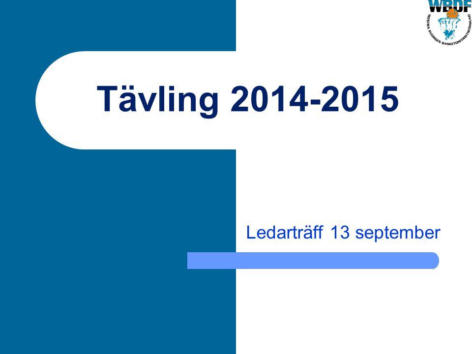 Tävling 2014-2015 Ledarträff 13 september