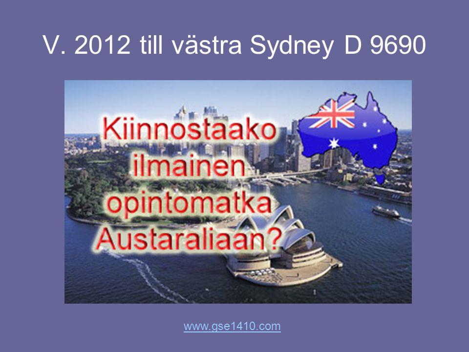 V. 2012 till västra Sydney D 9690 www.gse1410.com