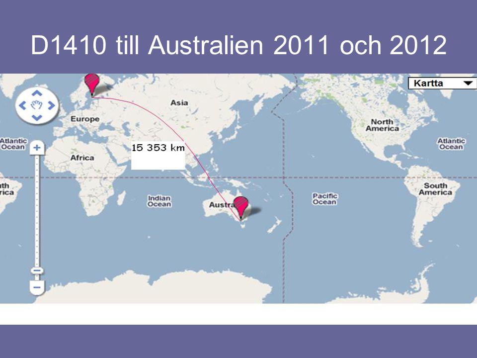 D1410 till Australien 2011 och 2012