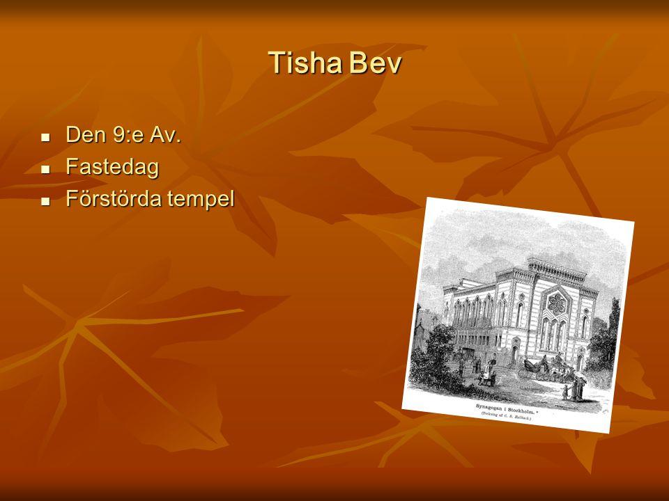 Tisha Bev Den 9:e Av. Den 9:e Av. Fastedag Fastedag Förstörda tempel Förstörda tempel