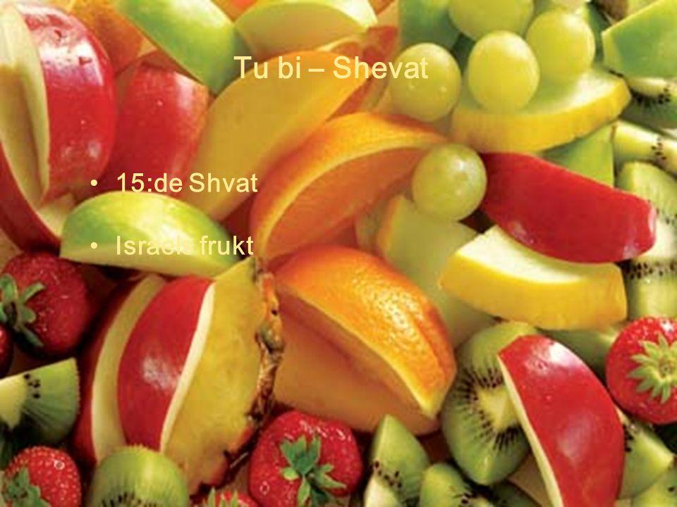 Tu bi – Shevat 15:de Shvat Israels frukt