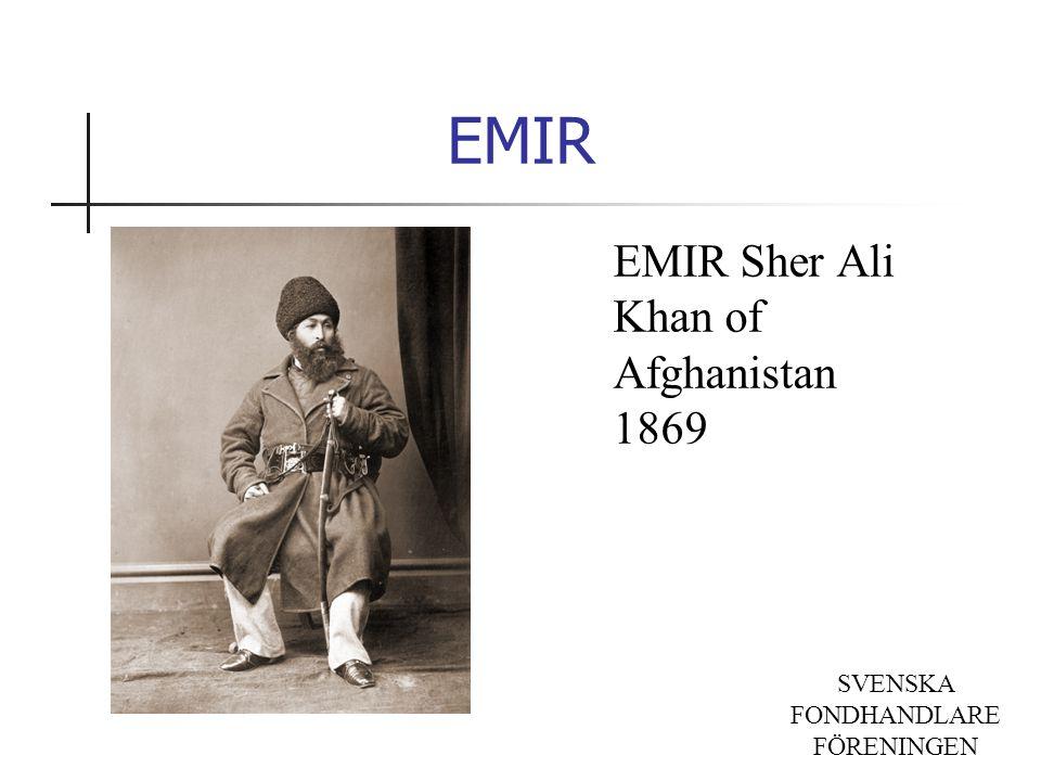 SVENSKA FONDHANDLARE FÖRENINGEN EMIR Sher Ali Khan of Afghanistan 1869 EMIR