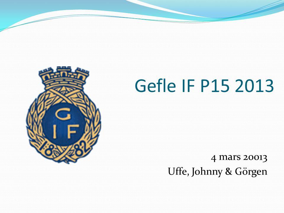 Gefle IF P15 2013 4 mars 20013 Uffe, Johnny & Görgen