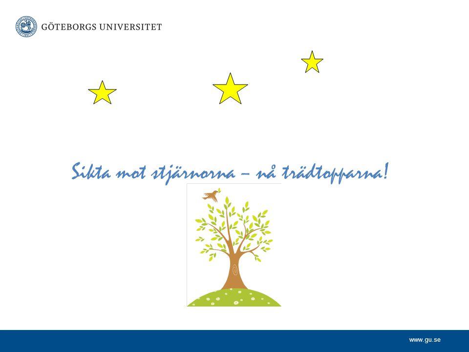 www.gu.se Sikta mot stjärnorna – nå trädtopparna!