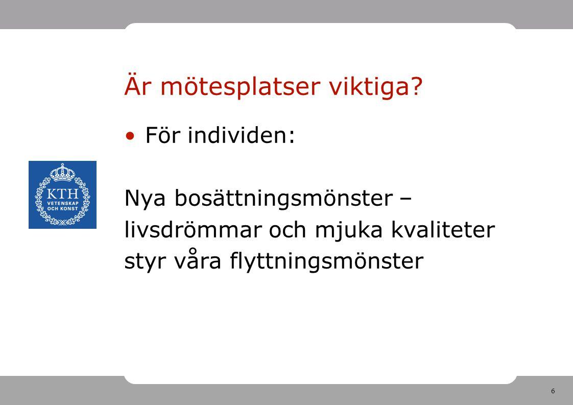 7 Är mötesplatser viktiga.För företagen: Vad kan vi lära från Uppsala och Kista.