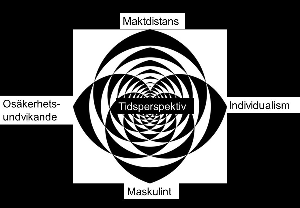 Individualism Osäkerhets- undvikande Maskulint Tidsperspektiv Maktdistans