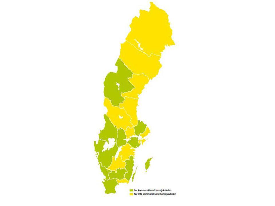 Erfarenheter från län som utrett frågan men ej beslutat Blekinge – Ronneby gick inte med på uppgörelsen Västmanland – kom inte överens om hemsjukvårdens kostnader Norrbotten – samma som Västmanland Västernorrland – regionfrågan satte stopp Västerbotten – kommunerna kom inte överens om ett mellankommunalt utjämningssystem