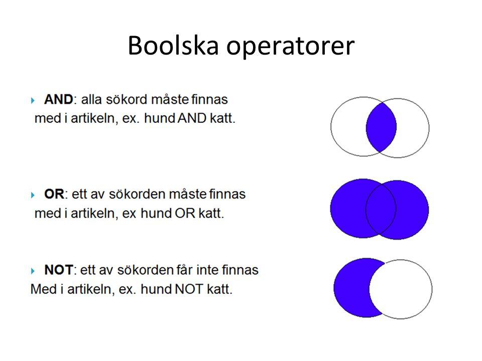 Boolska operatorer