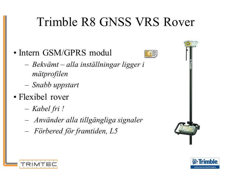 GNSS Support Trimble R8 GNSS Support Satellit Plot –GLONASS satelliter visas med 'R' prefix