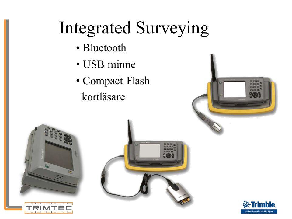 Bluetooth USB minne Compact Flash kortläsare Integrated Surveying