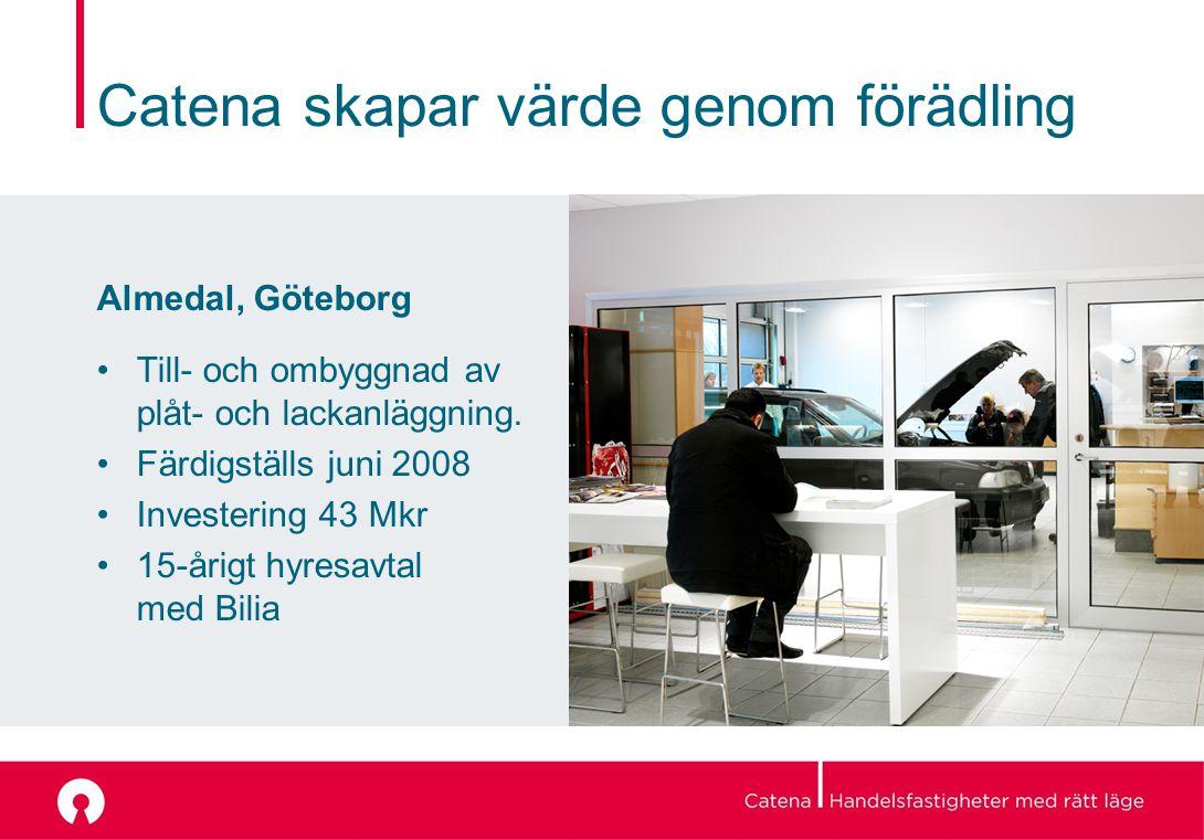 Catena skapar värde genom förädling Almedal, Göteborg Till- och ombyggnad av plåt- och lackanläggning.