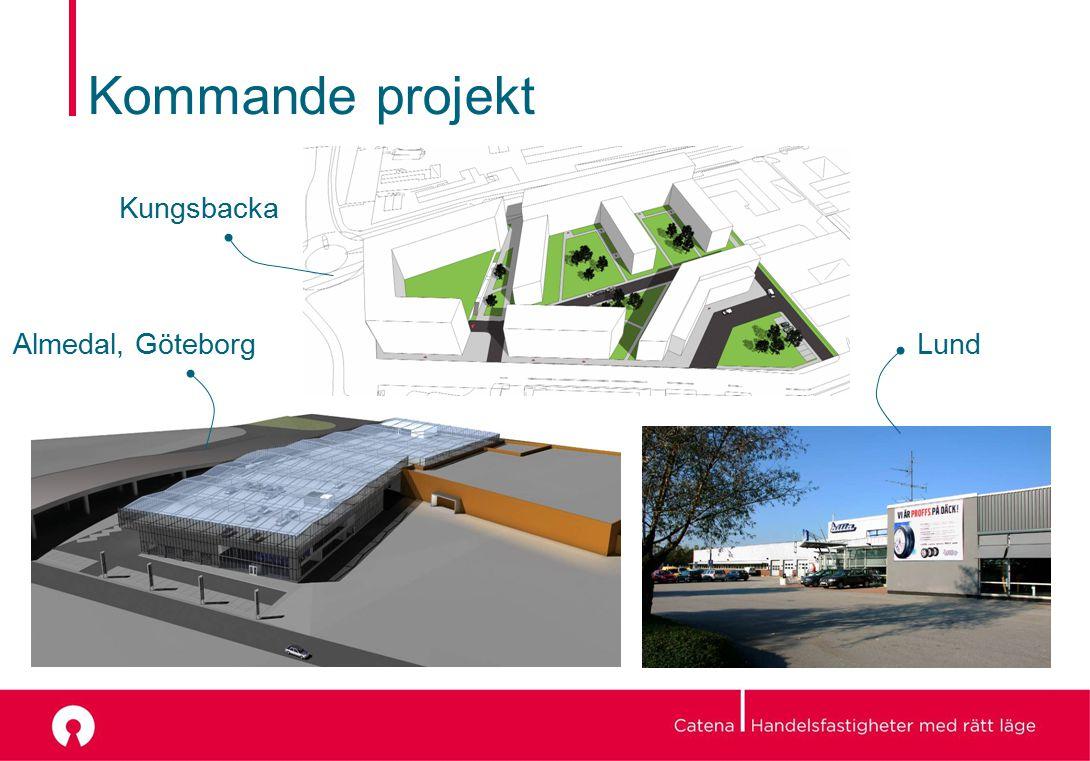 Kommande projekt Almedal, GöteborgLund Kungsbacka