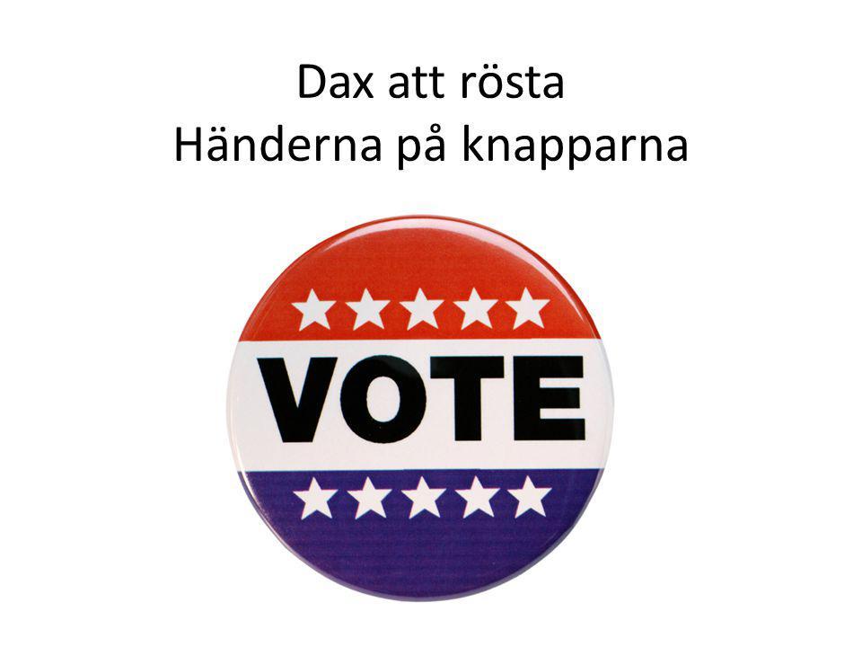 Dax att rösta Händerna på knapparna