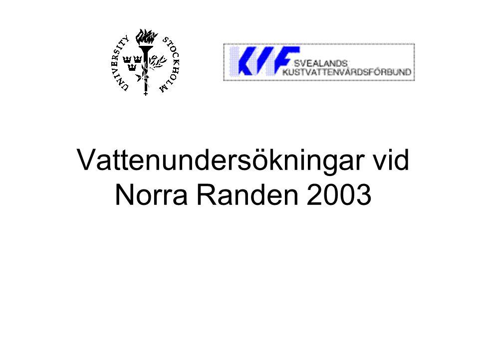 Vattenundersökningar vid Norra Randen 2003