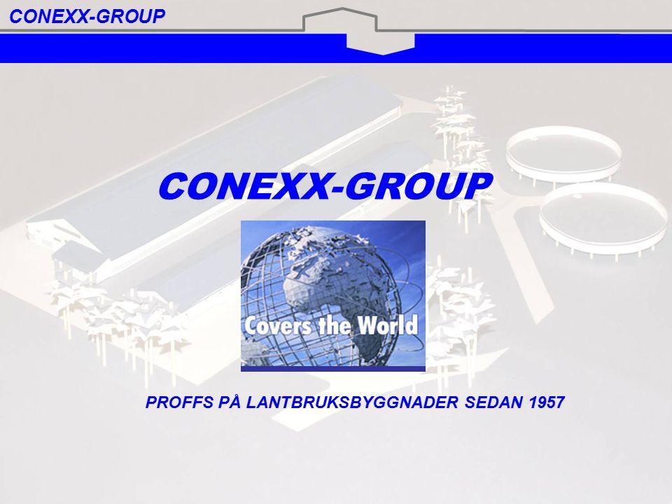 Conexx produktsortiment Comfort-Line Upp till 23 meter breda byggnader med sadeltak som klassificeras som enkla, robusta och prisvärda lagerbyggnader.