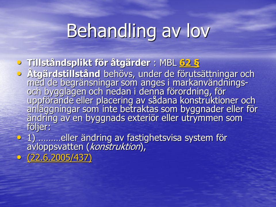 Tillståndsförfarande Vilket område: strand, grundvattenområde….