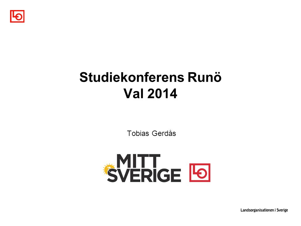 Studiekonferens Runö Val 2014 Tobias Gerdås