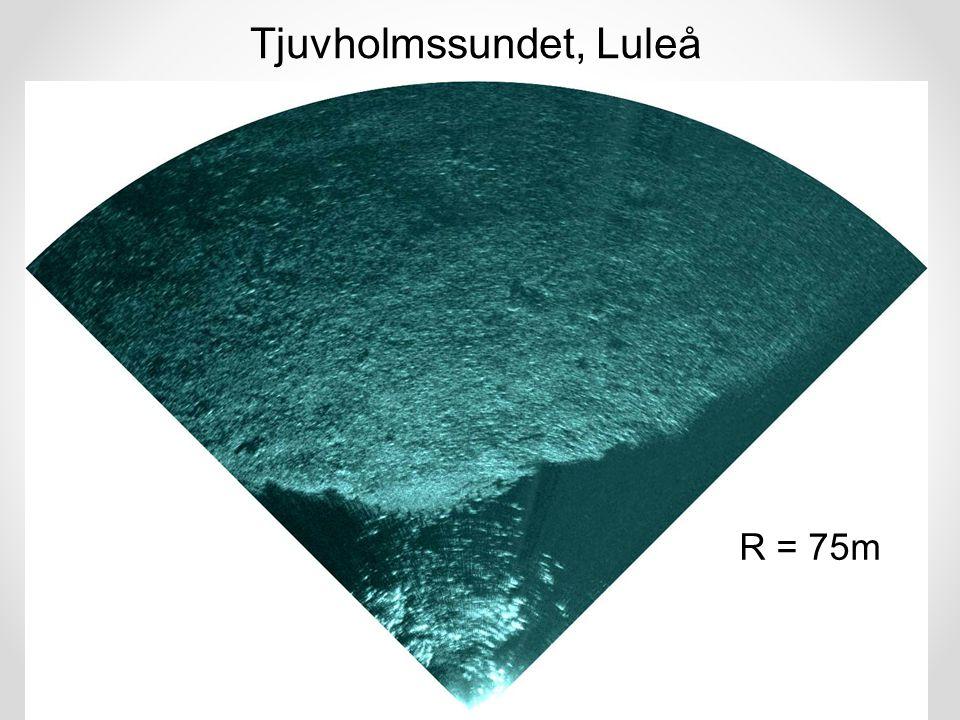 Tjuvholmssundet, Luleå R = 75m