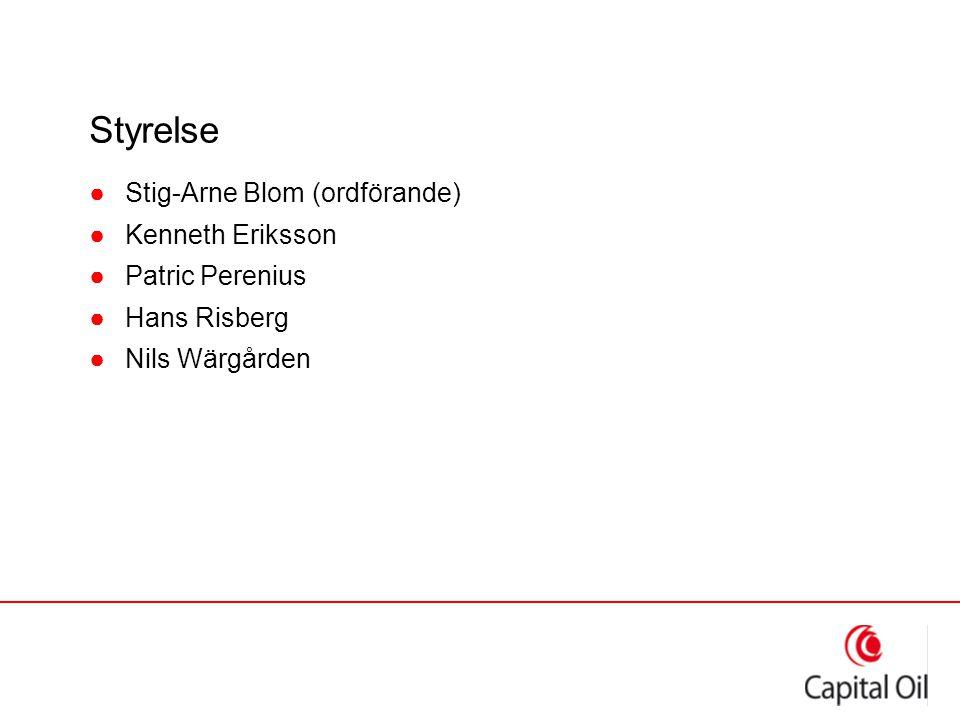 Styrelse ●Stig-Arne Blom (ordförande) ●Kenneth Eriksson ●Patric Perenius ●Hans Risberg ●Nils Wärgården